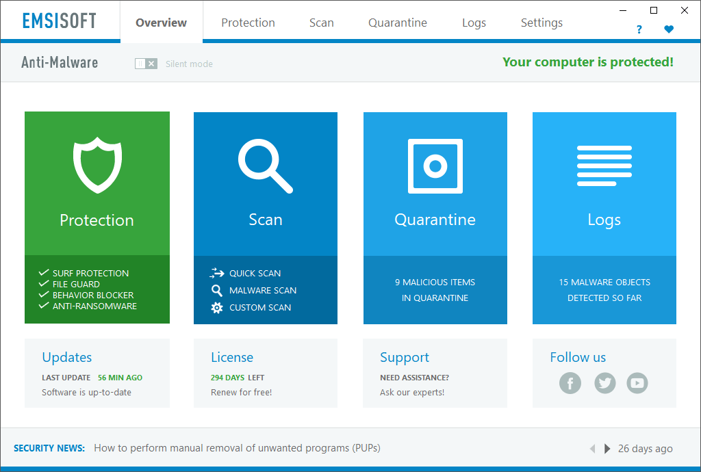 Emsisoft Overview