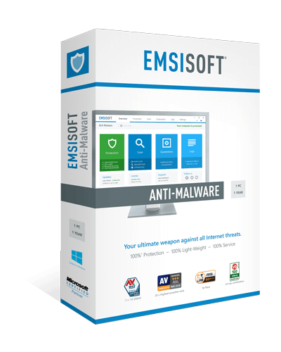 Emsisoft Antimalware box